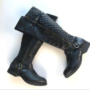 Steve Madden Questa Black High Boots Sz 8M